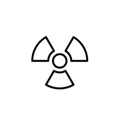Radiation icon black on white background vector