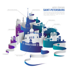 Saint-petersburg cityscape vector