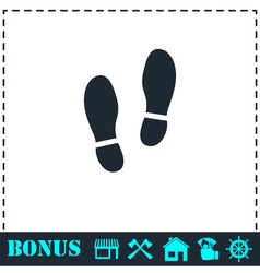 Shoes icon flat vector