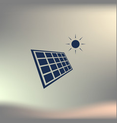 solar energy eco concept icon vector image