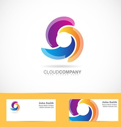 Spiral swirl rotation logo vector