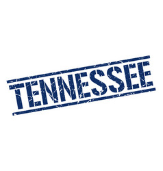 Tennessee blue square stamp vector