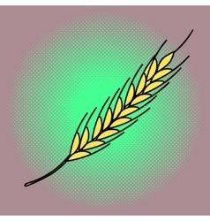 Wheat pop art vector