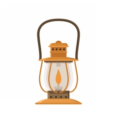 Camping lantern or gas lamp vector