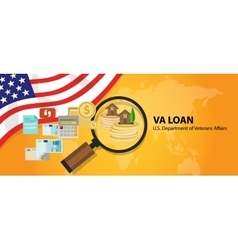 Va loan mortgage loan in the united states vector
