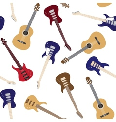 Seamless pattern with guitars vector