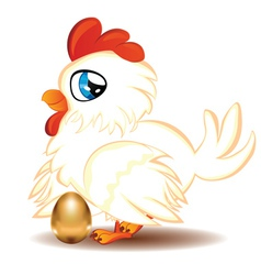Hen with golden egg2 vector