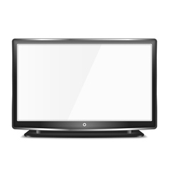 Black lcd tv vector