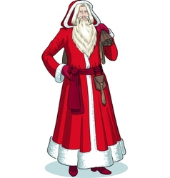French christmas character pere noel colored vector