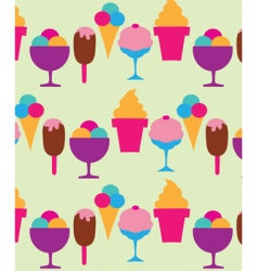 Ice cream and sundaes vector