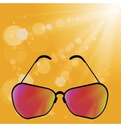 Retro sun glasses vector