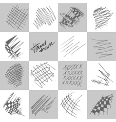 Abstract strokes vector image