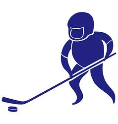 Sport icon design for ground hockey vector