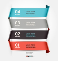Abstract infographics template ribbon style vector image vector image