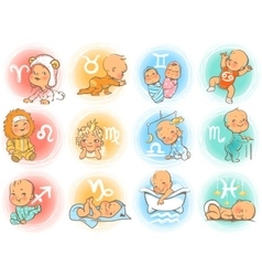 Baby horoscope vector