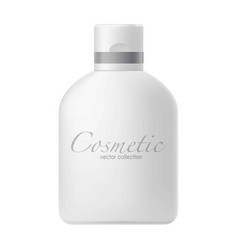 Big bottle with cosmetics vector
