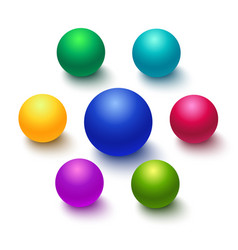 colorful sphere or ball isolated vector image vector image