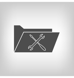 Computer folder with cloud vector