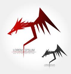 Dragon silhouette logo vector