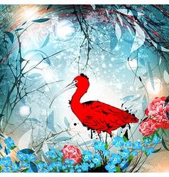 Fantasy nature ibis vector