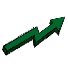 Financial arrow growth progress success image vector