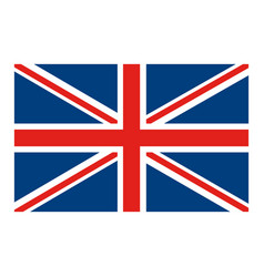 Flag united kingdom classic british icon vector