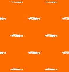 Fresh sturgeon fish pattern seamless vector