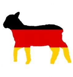 German lamb vector image vector image