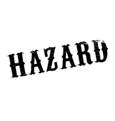 Hazard rubber stamp vector image