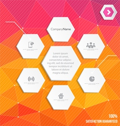 Infographic in polygonal style vector image
