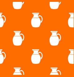 Jug of milk pattern seamless vector