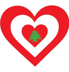 Lebanon heart vector