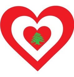 Lebanon Heart vector image