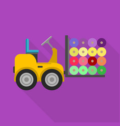 machine single icon in flat stylemachine vector image