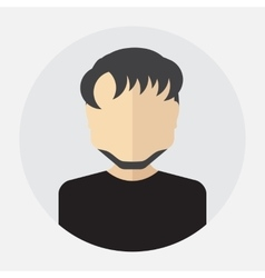 male face avatar logo template pictogram vector image vector image