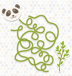 panda labyrinth game for Preschool Children vector image