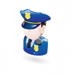 policeman illustration vector image