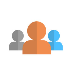 profile icon group user member avatar vector image