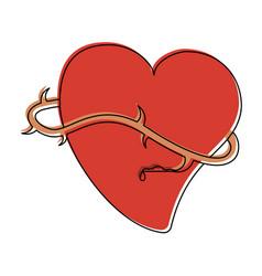 Sacred heart catholic symbol vector