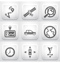 Set of square application buttons navigation vector image vector image