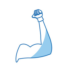 Strong arm biceps muscle fitness vector