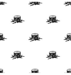 Stump icon in black style for web vector