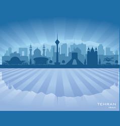 tehran iran city skyline silhouette vector image vector image