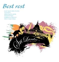 Travel Sri Lanka grunge style vector image