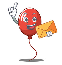 With envelope balloon character cartoon style vector
