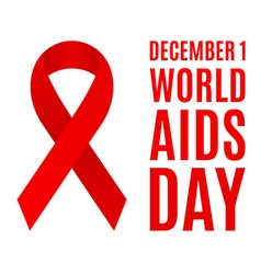 World aids day poster vector