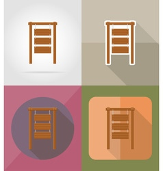 wooden board flat icons 01 vector image