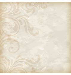 old floral background vector image