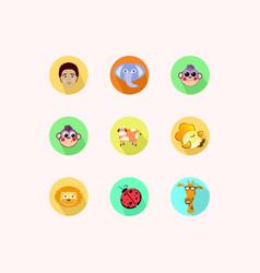 icon nine animals vector image