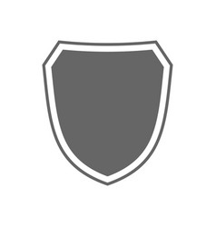 Shield icon shape emblem vector